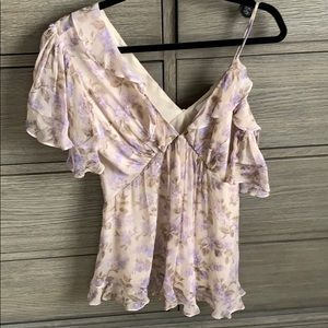 Zimmermann Cold Shoulder Floral Top-Sz 1